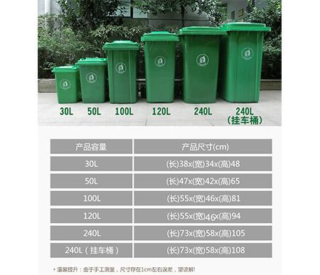 垃圾桶规格图