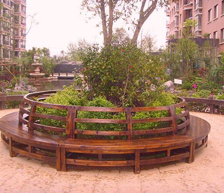 景观花坛围树椅