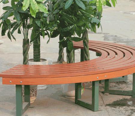景观花园围树椅