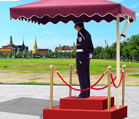 物业保安遮阳伞